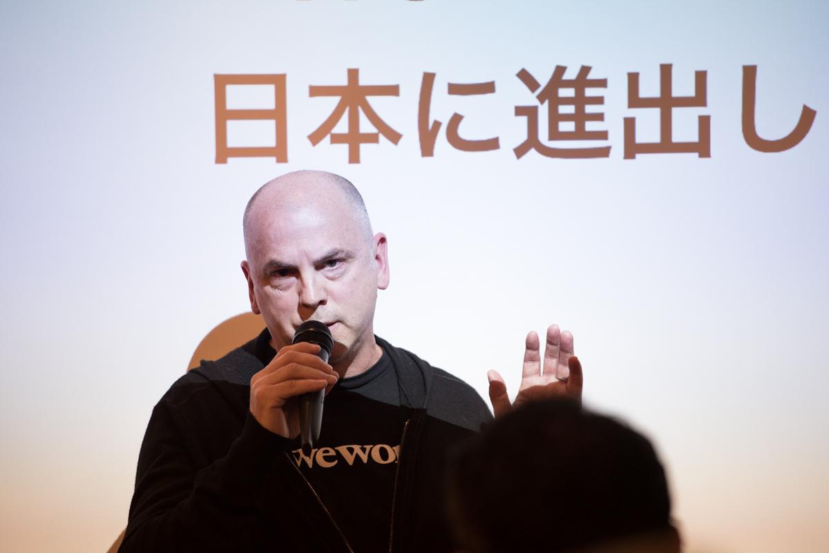 都内で開催された「WeWork JAPAN CEOと語る」に登壇したクリス・ヒル氏