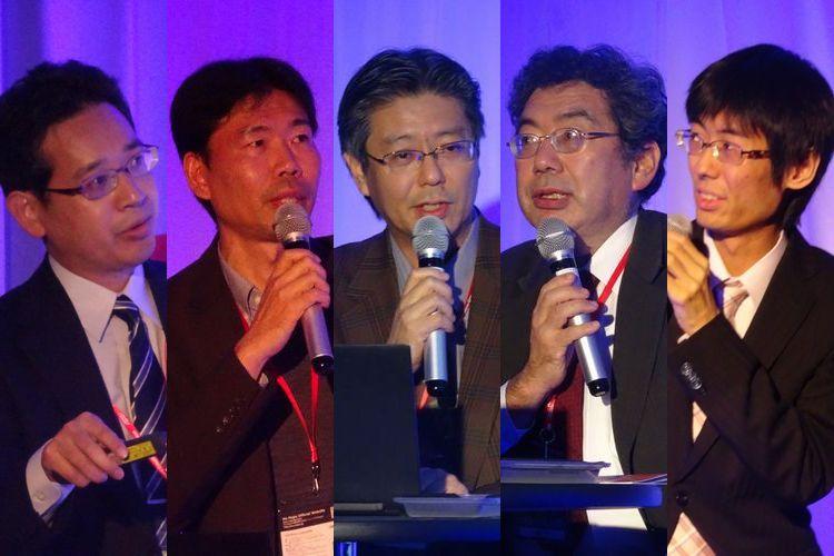 左から山下宏氏、鶴岡慶雅氏、伊藤毅志氏、松原仁氏、千田翔太氏