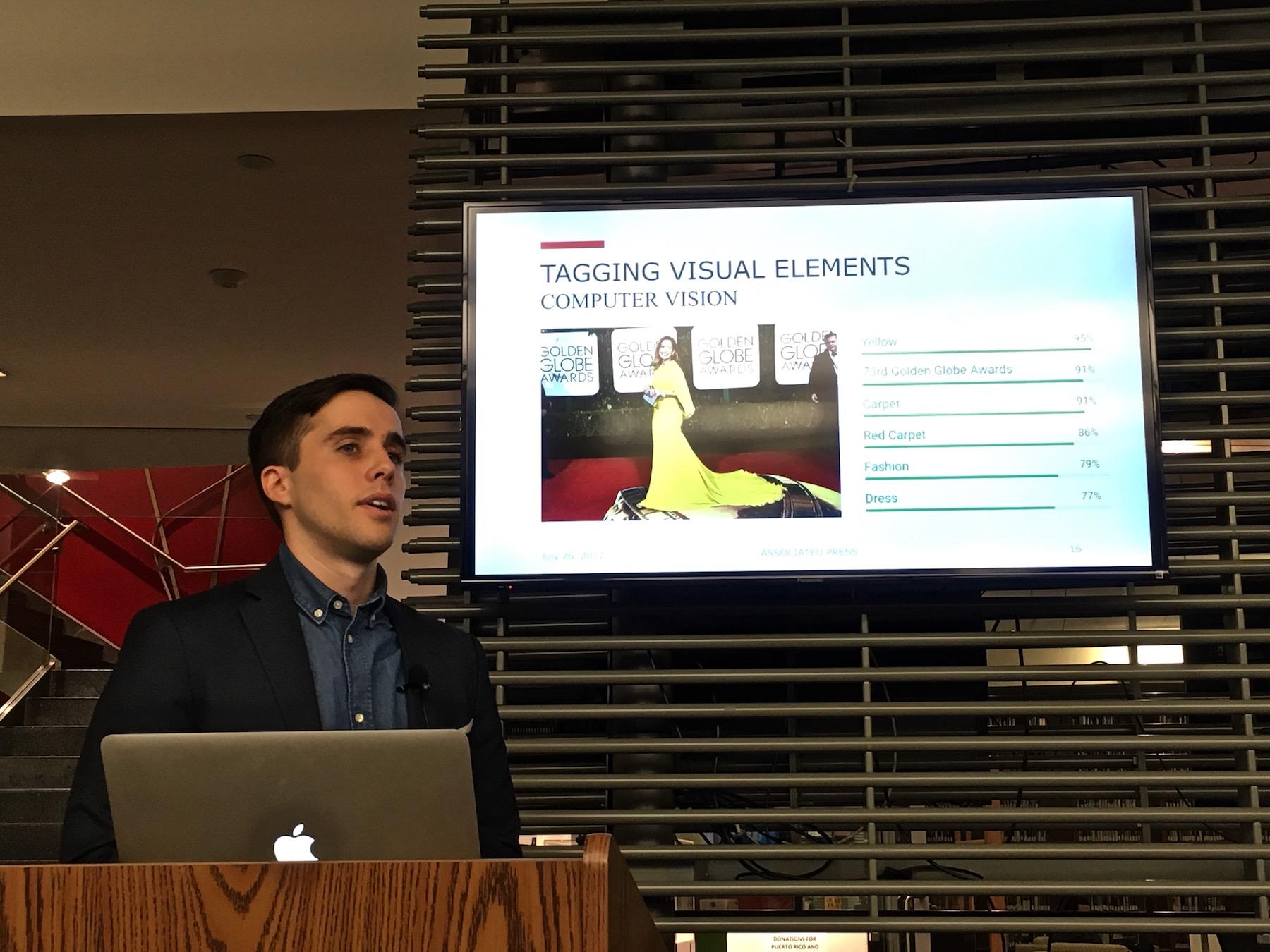 コンピューター・ビジョンの活用について語るフランシスコ・マルコニ氏