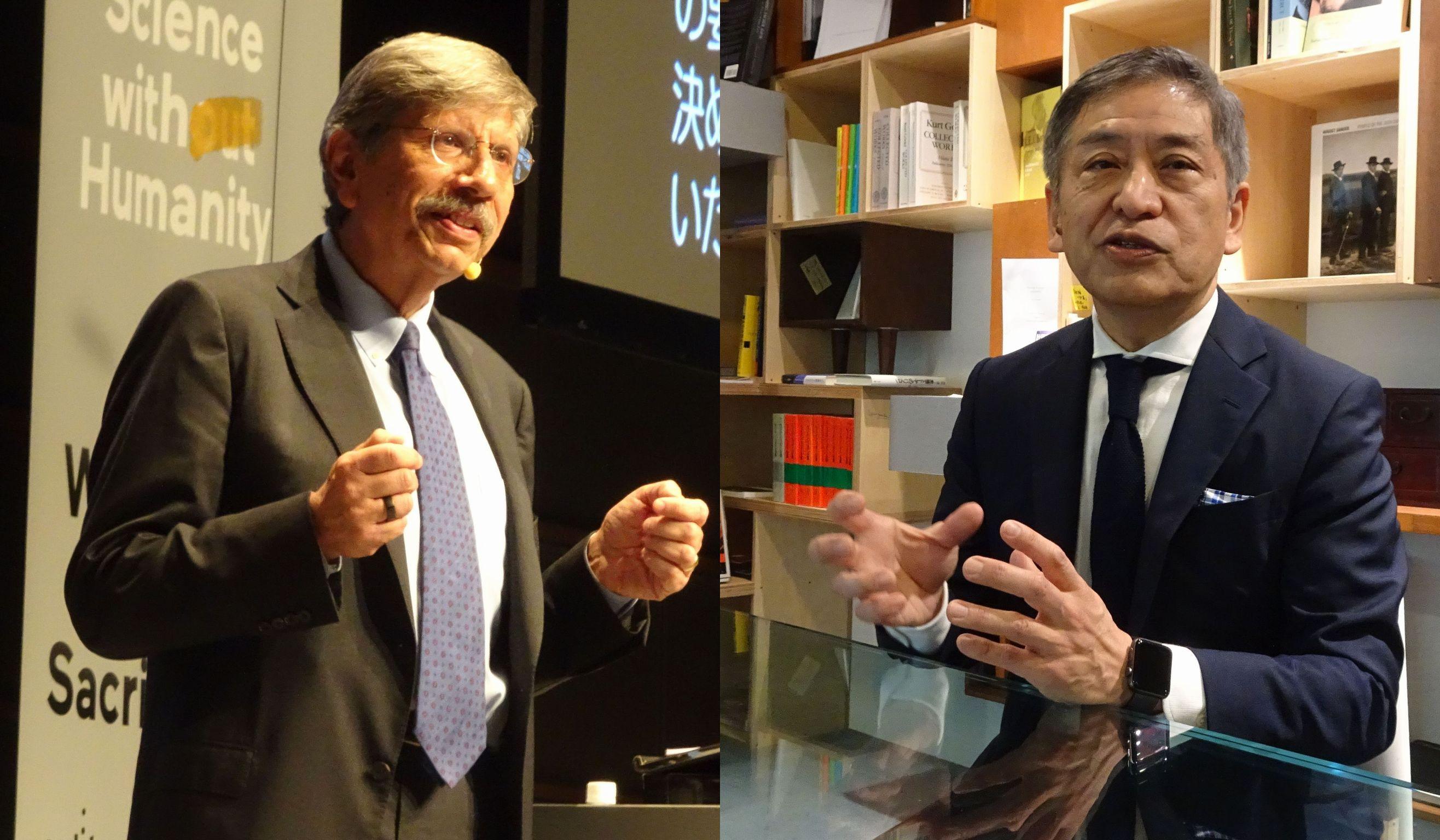 講演するリッチ・ジャロスロフスキー氏(左)と藤村厚夫執行役員