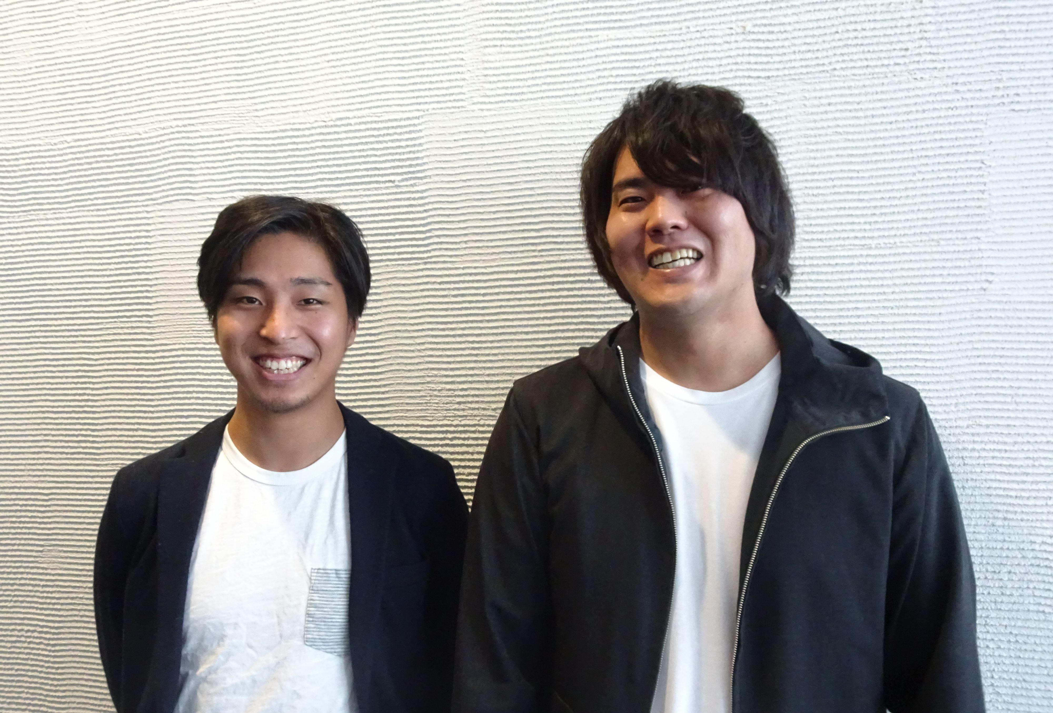 ブロックチェーンをつかった信頼のプラットフォームを目指すALISの安氏(左)と水沢氏