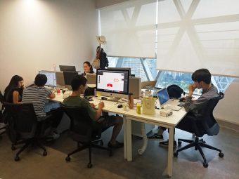 Rocketspace深セン、Makernet社のオフィス