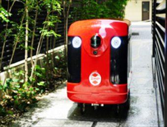 歩道を走行する宅配ロボットのイメージ(ZMP社プレスリリース2018年1月16日より)