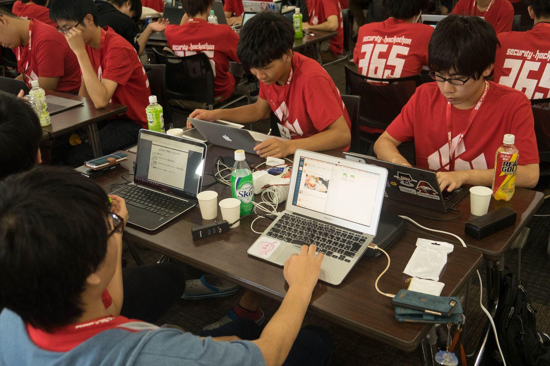 SecHack365ハッカソン開催時の模様