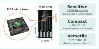 MSS Chipのサイズは長辺1センチ