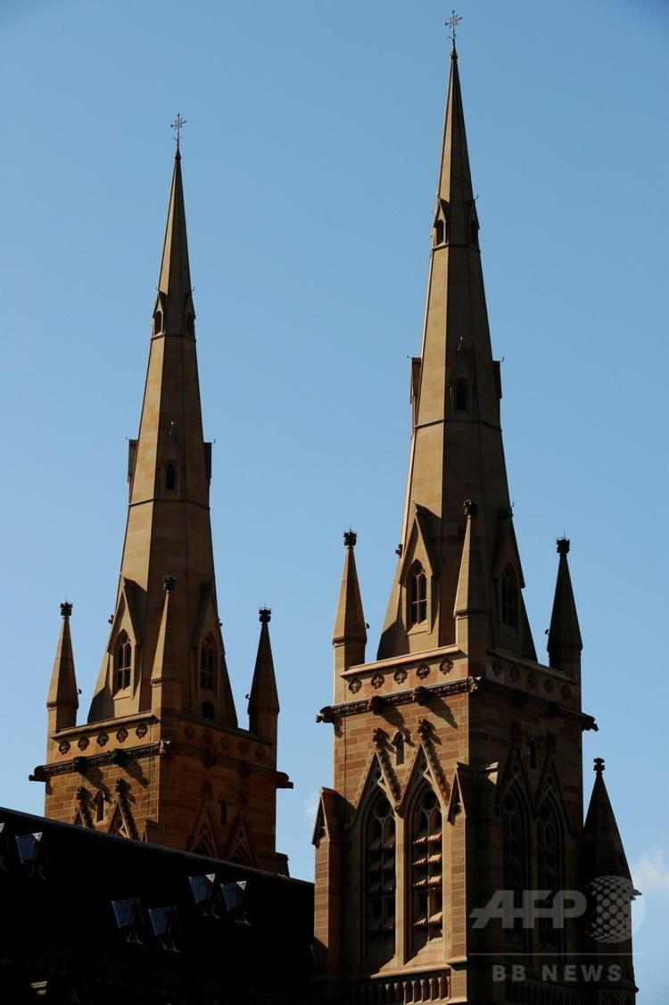 教会の尖塔(2010年2月23日撮影、資料写真)。(c)AFP PHOTO / Greg WOOD