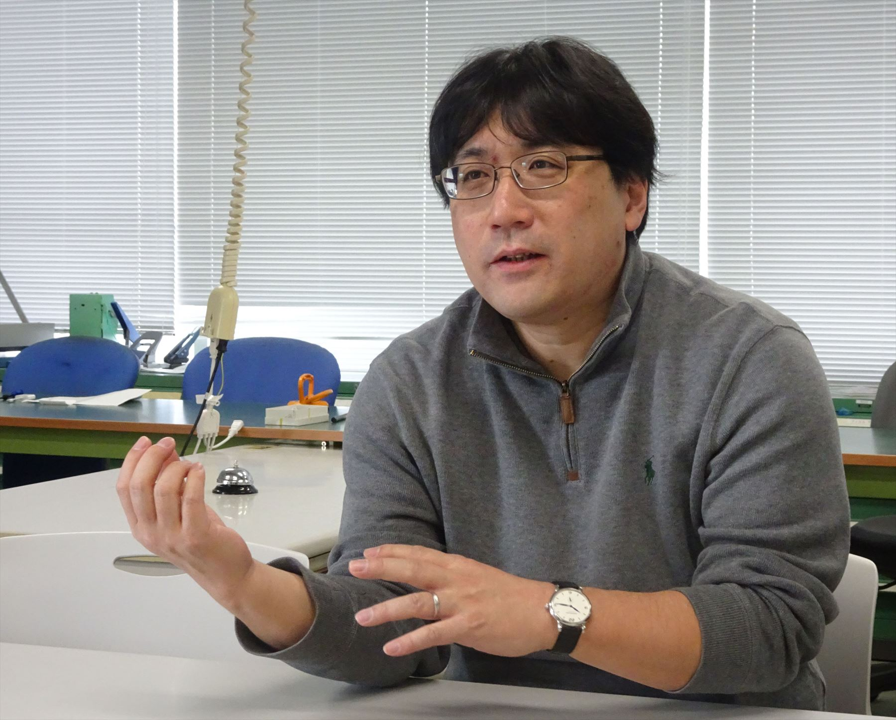 カーリングAIを開発している北海道大学の山本教授