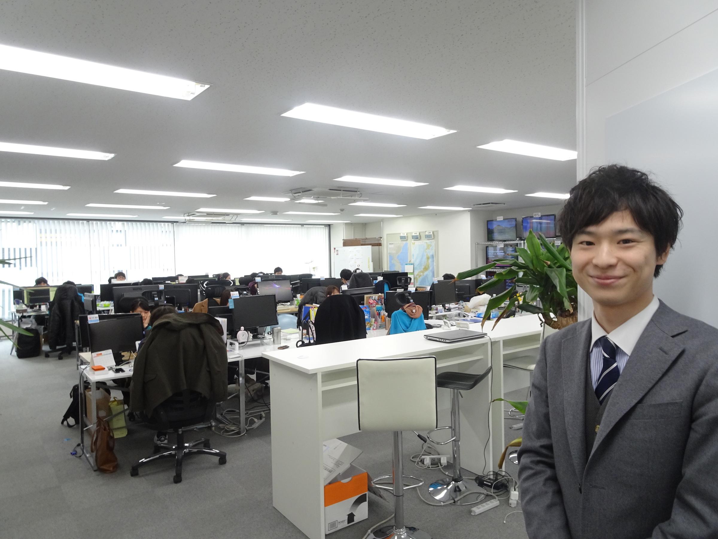 細野氏とJX通信社のオフィス