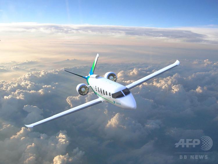 米ボーイングが出資している米ベンチャー企業ズーナム・エアロのハイブリッド電気航空機の想像図(2018年4月4日公開)。(c)AFP/ZUNUM AERO