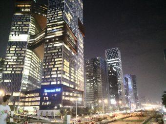 広東省深セン市。ウィーチャットペイを展開するテンセントの新本部ビル
