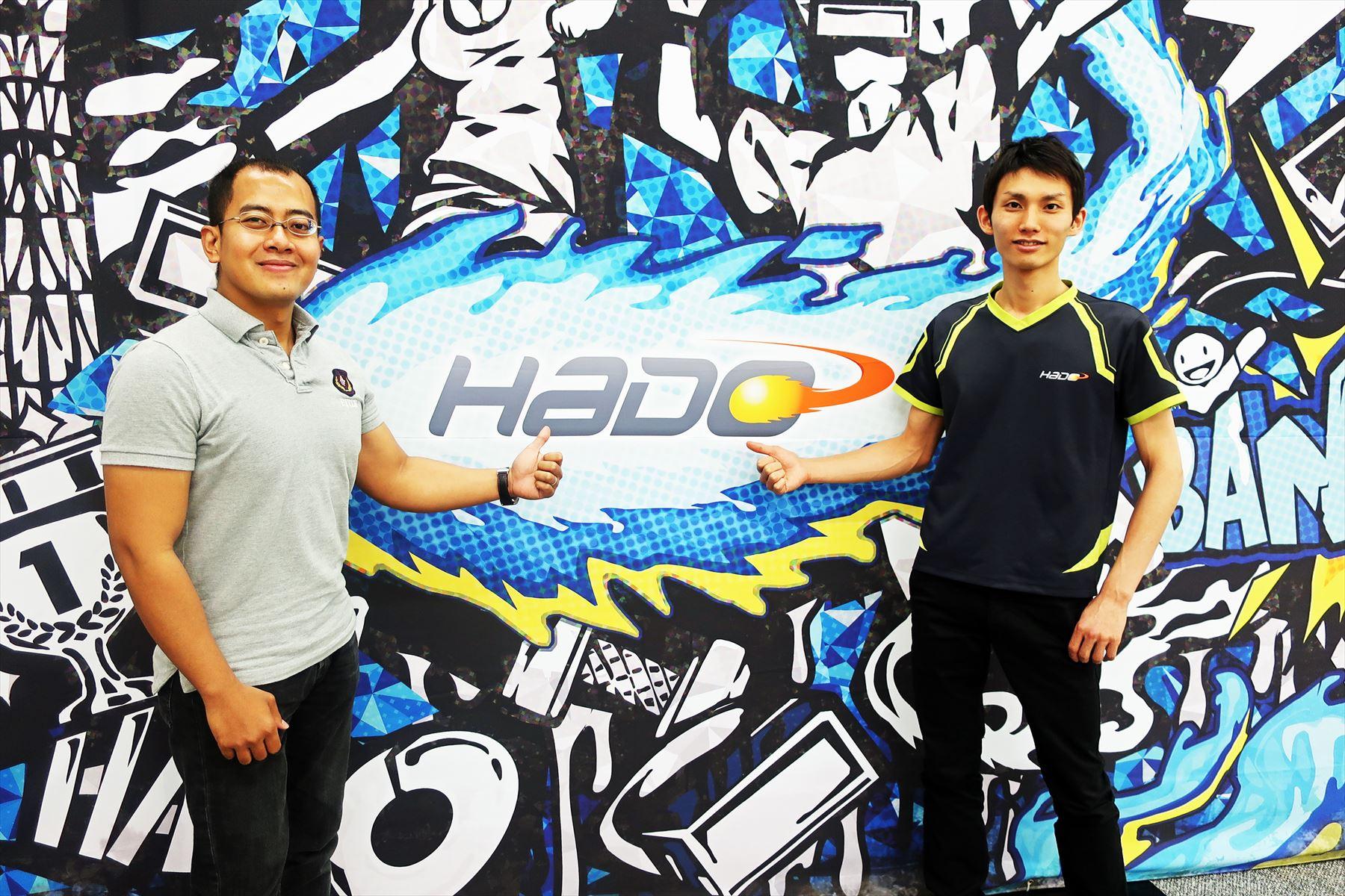 meleap CEO福田浩士氏(右)DG Lab VRAR CTOアディヤン ムジビヤ(左)