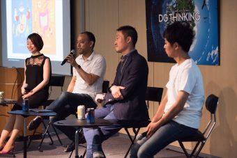 左から橋本(DG)、澤山陽平さん(500 Startups Japan)、香本慎一郎さん( Eight Roads Ventures Japan)、鮫島昌弘さん(ANRI パートナー)