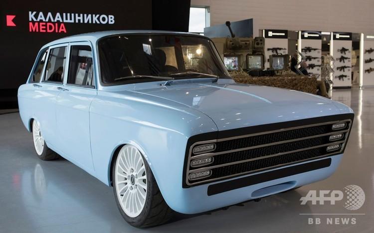 ロシアの武器メーカー、カラシニコフが開発中の電気自動車「CV-1」。カラシニコフ社提供(2018年8月22日撮影、提供)。(c)AFP PHOTO / HO / Kalashnikov media