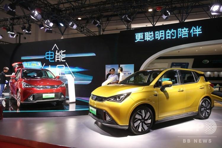 新エネルギー車(2018年7月13日撮影、資料写真)。(c)CNS/陳暁根
