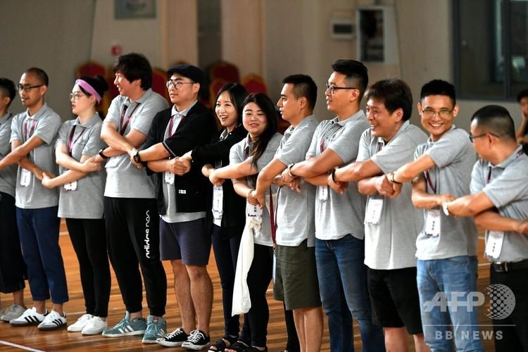 青年起業家の交流会(2018年6月4日撮影、資料写真)。(c)CNS/王東明