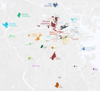 ボストンエリアにある大学(出典:Wikipedia List of colleges and universities in metropolitan Boston)