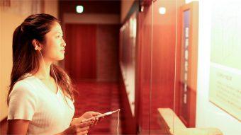 ミツカンミュージアム、音声ARによるアテンドの模様