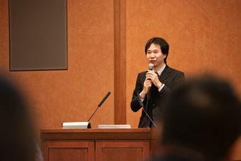 講演を行う鳴海拓志氏(東京大学情報理工学系研究科)