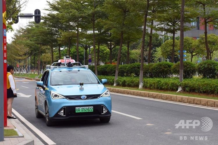 試験運用が開始されたタクシー(2018年11月1日撮影)。(c)CNS/馬世安