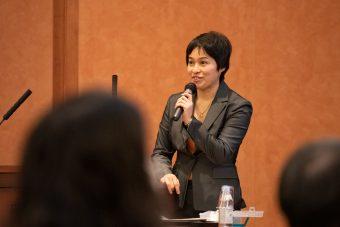 耳鼻科医教育へのVR活用に期待していると述べる吉川弥生氏(東京大学医学系研究科)