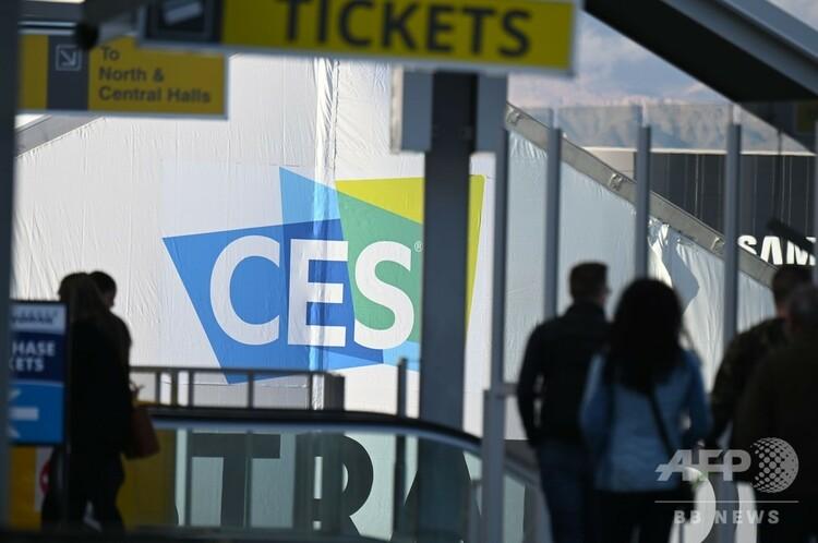 世界最大級の家電見本市「国際コンシューマー・エレクトロニクス・ショー(CES)」開幕の準備が進められる米ネバダ州ラスベガスのモノレール駅(2019年1月6日撮影)。(c)Robyn Beck / AFP