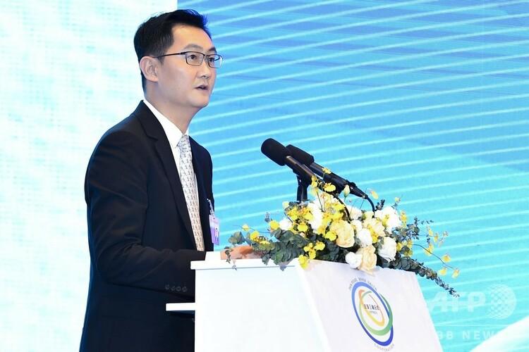 テンセントの馬化騰CEO(2018年9月5日撮影、資料写真)。(c)CNS/陳驥旻