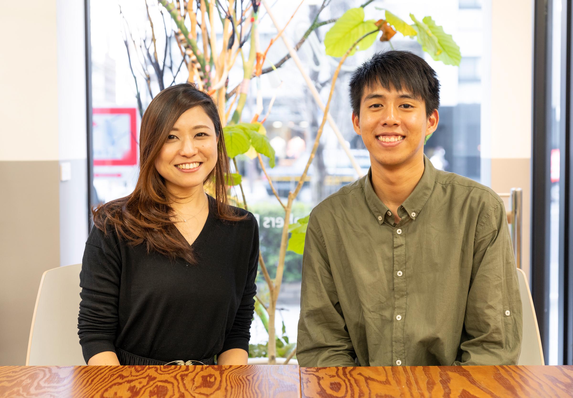 「Robotex Japan」CCOのピォー 豊氏(右)と、理事の大野愛弓氏(左)
