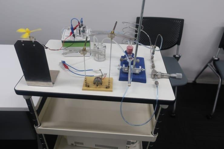 『水素と空気でプロペラを回しましょう』の実験