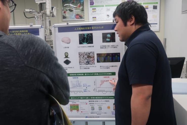 『人工知能を目指す原子スイッチ』の説明