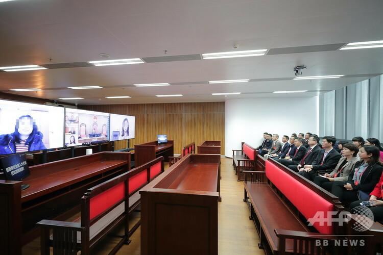 インターネットを活用した広州の裁判(2019年3月14日撮影、資料写真)。(c)CNS/徐志毅