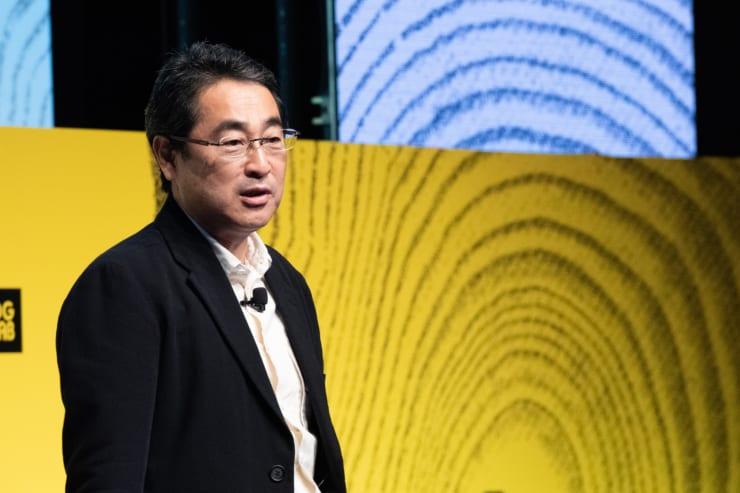 開催の挨拶で登壇したデジタルガレージの林郁CEO