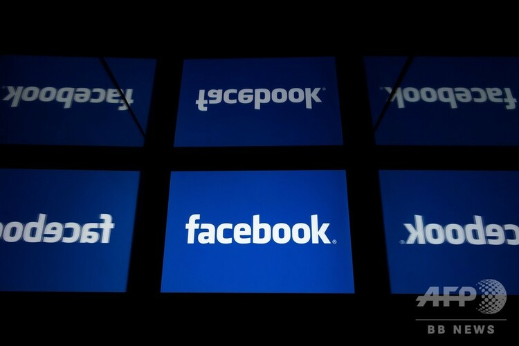 米フェイスブックのロゴ(2019年2月18日撮影、資料写真)。(c)Lionel BONAVENTURE / AFP