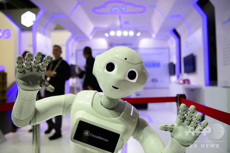 スペイン・バルセロナで開かれたイベントに展示されたロボット(2019年2月25日撮影、資料写真)。(c)GABRIEL BOUYS / AFP