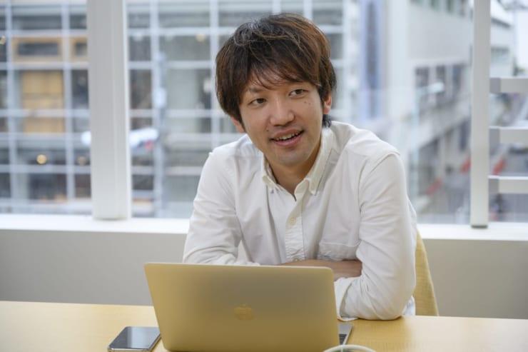 インタビューに答えるCansell代表取締役の山下恭平氏