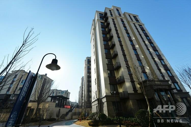 青島の公益賃貸住宅(2017年12月18日撮影、資料写真)。(c)CNS/王海濱