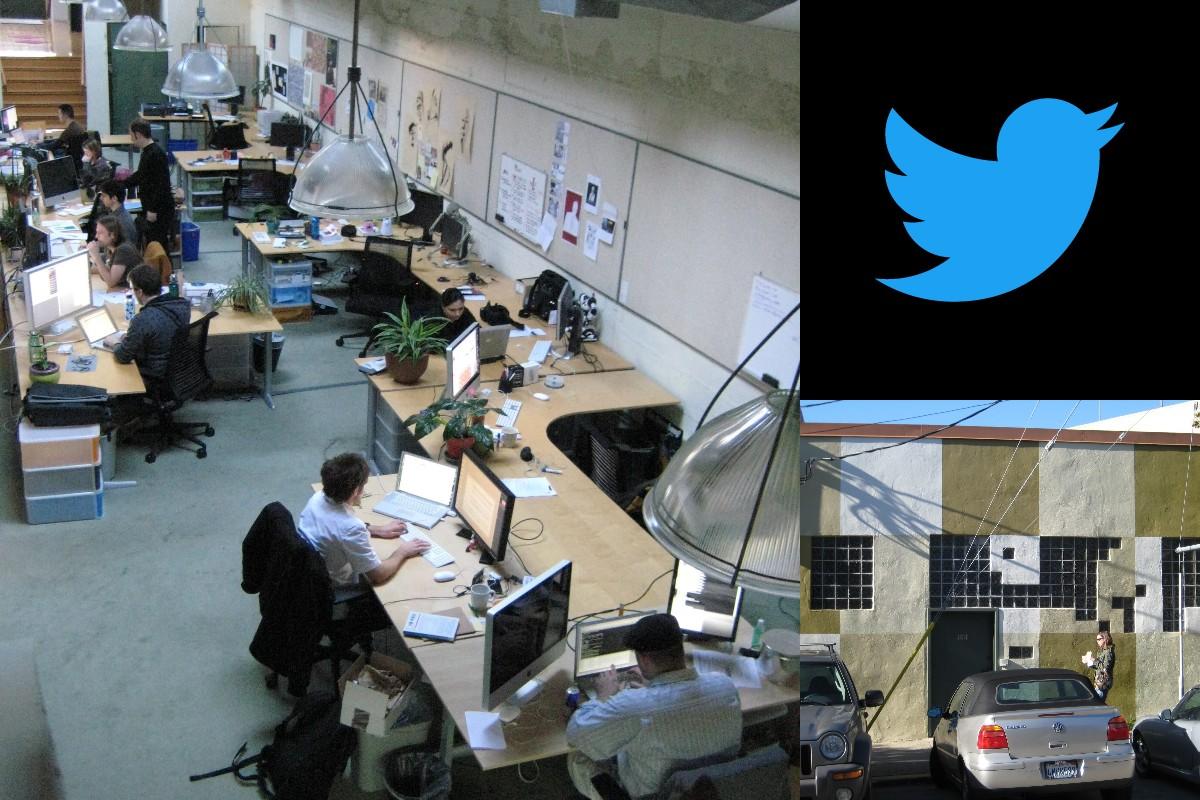 2008年当時のTwitter社のオフィス