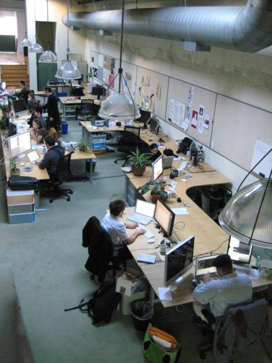 2008年当時のTwitter社のオフィスの内部