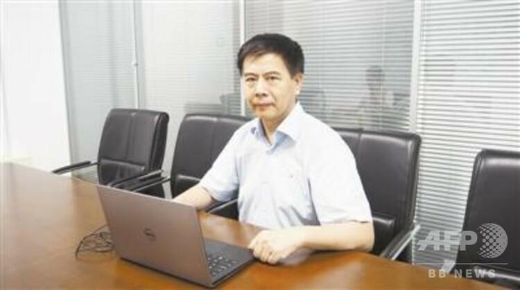 インタビューに答える黄智生教授(撮影日不明、提供写真)。(c)科技日報