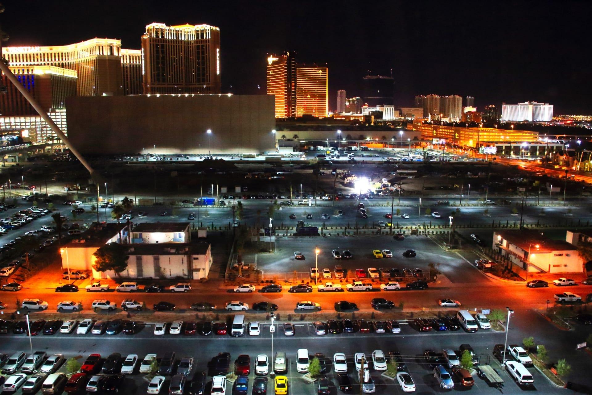 ラスベガスの広大な駐車場(イメージ図)