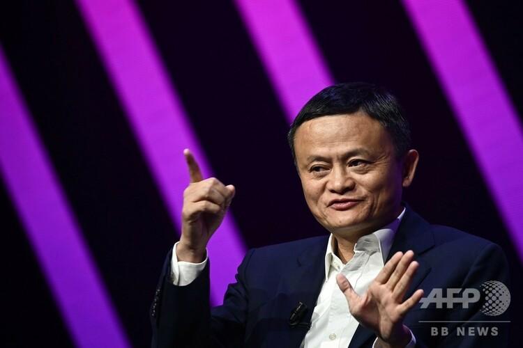中国の電子商取引(EC)最大手、アリババグループの馬雲(ジャック・マー)会長。仏パリで(2019年5月16日撮影、資料写真)。(c) Philippe LOPEZ / AFP