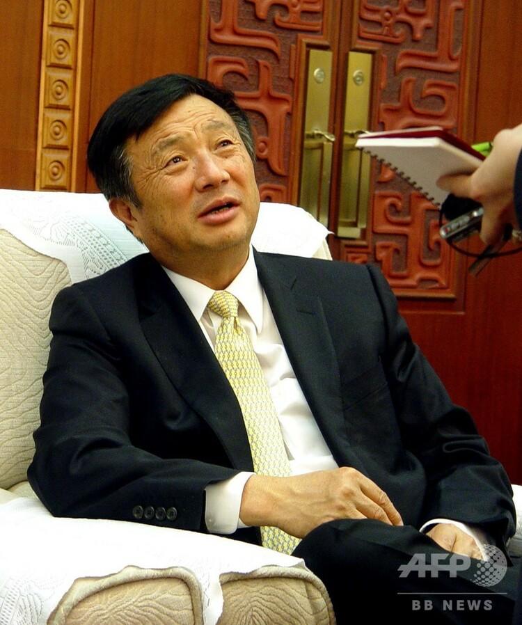 華為技術(ファーウェイ)の創業者・任正非氏(2005年4月15日撮影、資料写真)。(c)CNS