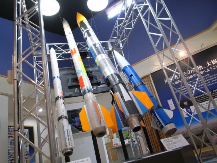 大樹宇宙交流センターSORA内に展示されたロケット