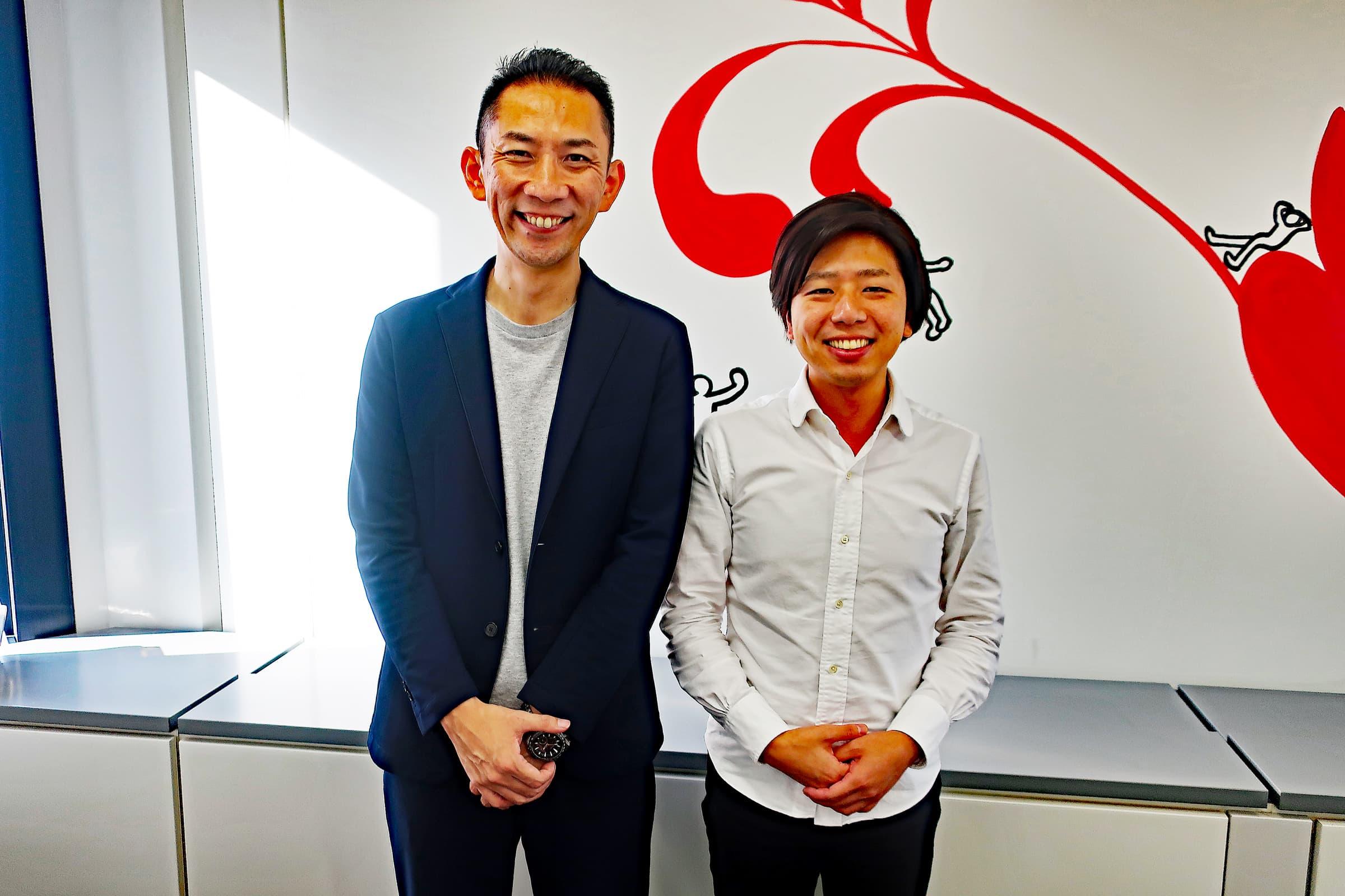 伊藤友博氏とシステムを支える開発部部長 原悠生(はら・ゆうき)氏