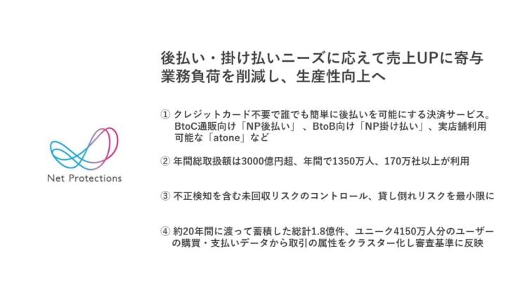 株式会社ネットプロテクションズの秋山氏の説明スライドより