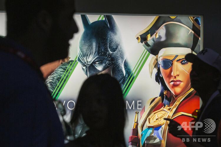 昨年行われた、世界最大級のゲーム見本市「エレクトロニック・エンターテインメント・エキスポ(E3)」の様子(2019年6月12日撮影、資料写真)。(c)DAVID MCNEW / GETTY IMAGES NORTH AMERICA / AFP