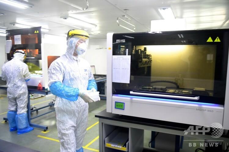 深センにある華大基因の「火眼」研究室(2020年3月3日撮影)。(c)CNSq
