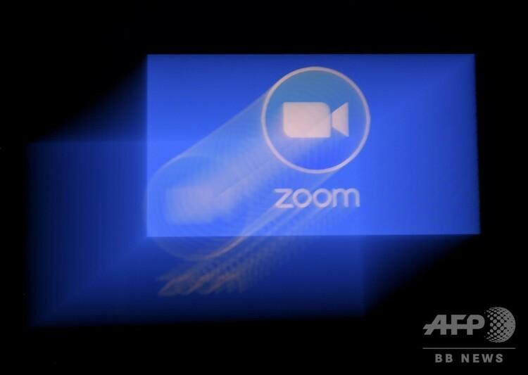 ビデオ会議アプリ「ズーム」のロゴ(2020年3月30日撮影)。(c)Olivier DOULIERY / AFP