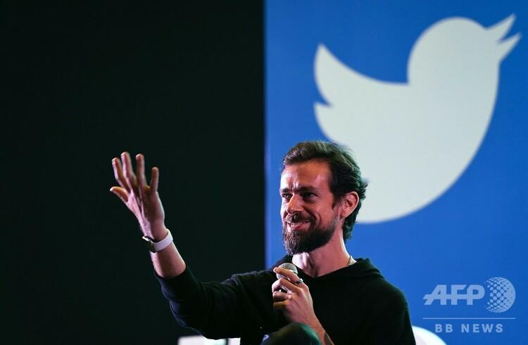 ツイッターの共同創業者で最高経営責任者(CEO)のジャック・ドーシー氏(2018年11月12日撮影)。(c)Prakash SINGH / AFP