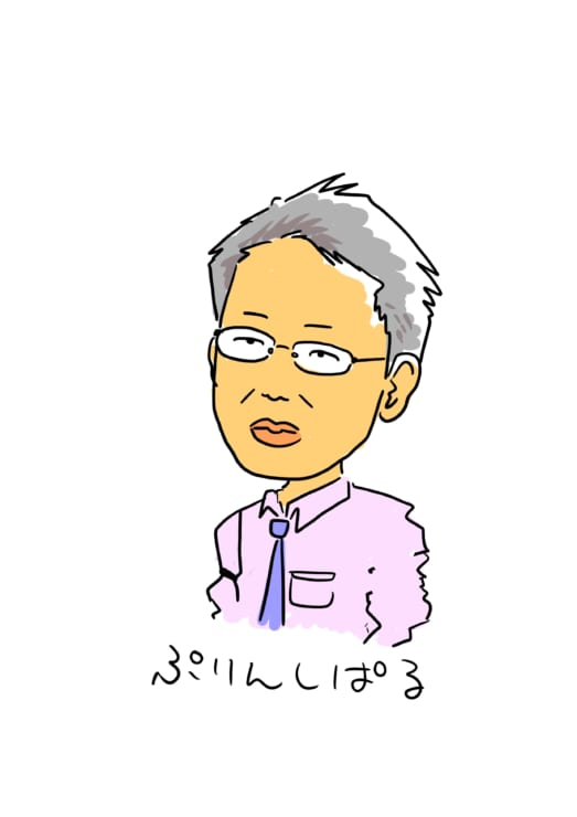 NTTデータ先端技術㈱の宮坂肇氏 同社の社員によるイラスト