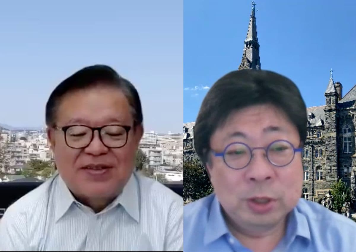 村井純氏(左)松尾真一郎氏(右)
